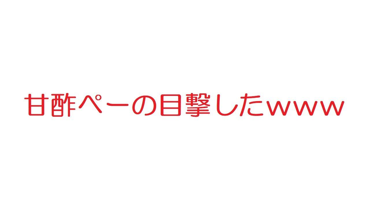 【2ch】甘酢ぺーの目撃したwww