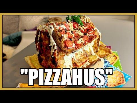 Vi bygger ett hus av Pizza!