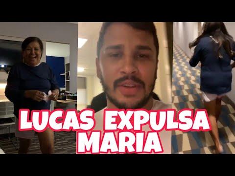 MARIA APRONTA COM LUCAS E ELE A EXPULSA DO QUARTO , CARLINHOS MAIA ESTÁ VOLTANDO  PRO BRASIL