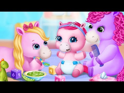 Fun Baby Pony Care Kids Games - Pony Sisters Baby Horse Care - Babysitter Daycare Halloween Games
