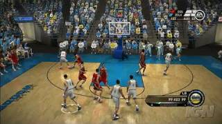 NCAA March Madness 07 Xbox 360 Gameplay - No 1 vs. No 2