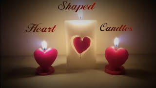 DIY - Heart Shaped Candles for VALENTINE | ♥️ Rotating Heart Candle ♥️| Christmas Candle