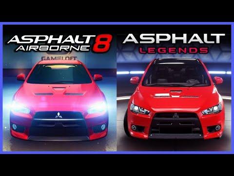 Asphalt 8 Vs 9 Graphics Comparison
