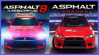 Asphalt 8 vs 9 Graphics Comparison
