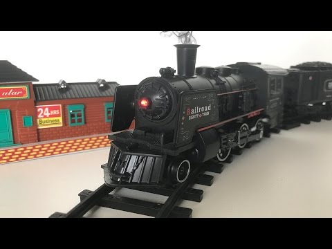 Toy Steam Locomotive with Real Smoke! League Lines Train set!