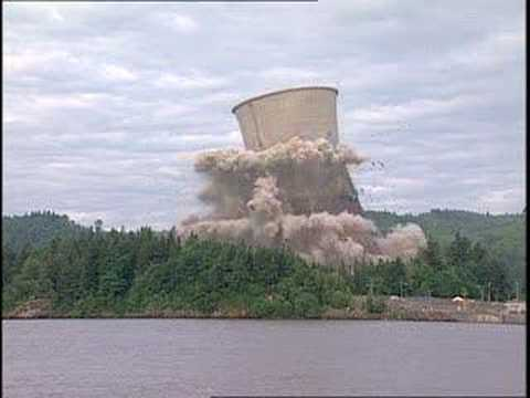 Trojan Nuclear Cooling Tower Implosion