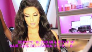 zohrasadat blend mi and style mi at our bellami beauty bar in west hollywood