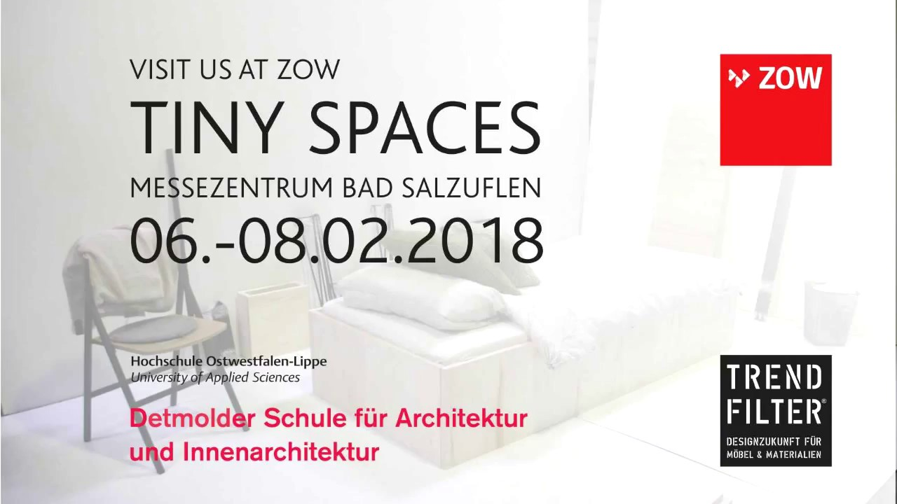 Innenarchitektur Ostwestfalen Lippe Interior Case In Process Preview Tiny Spaces Zow 2018