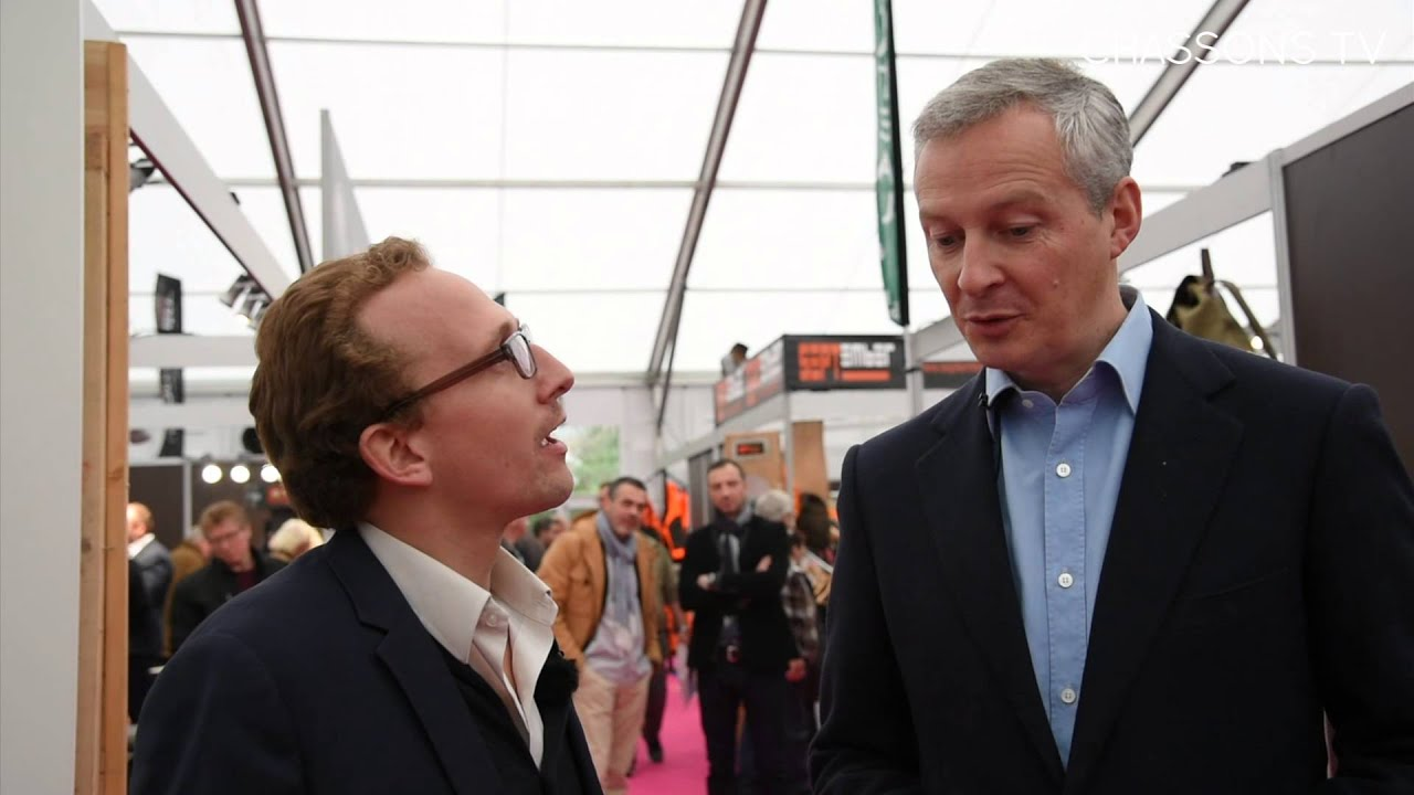 Bruno le maire au salon de la chasse de rambouillet youtube for Salon rambouillet