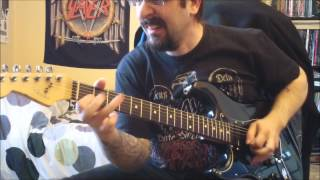 "Slayer - full ""Reign In Blood"" Album on Guitar !! - track after track - with solos - HD !"