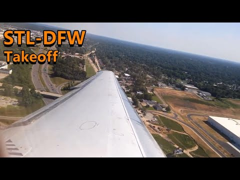 American Airlines MD-80 Startup and takeoff from St. Louis Lambert Airport
