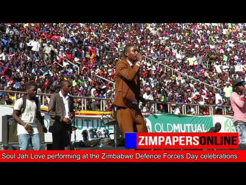 Soul Jah Love performing at the Zimbabwe Defence Forces Day celebrations