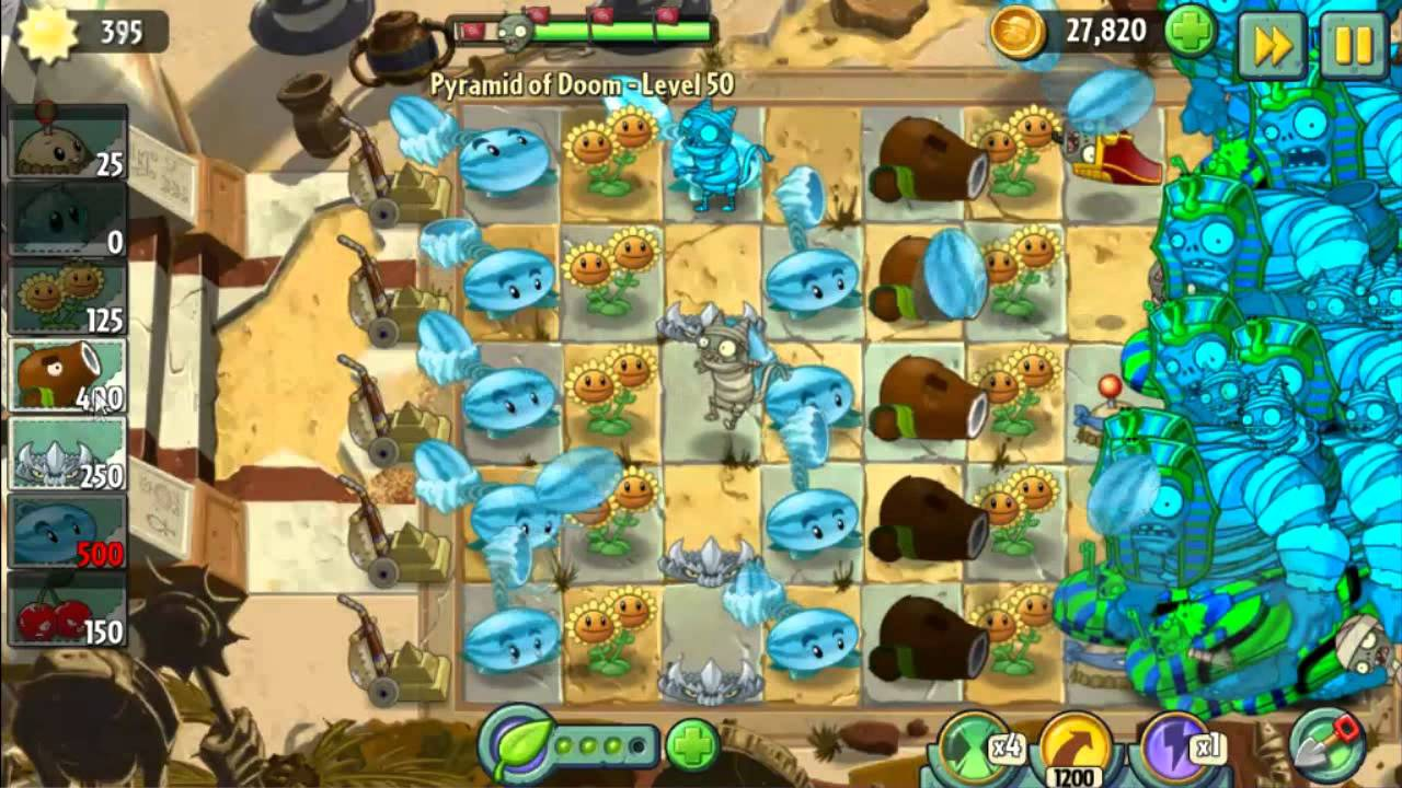 Pyramid Of Doom Level 50 Perfect Strategy Plants Vs