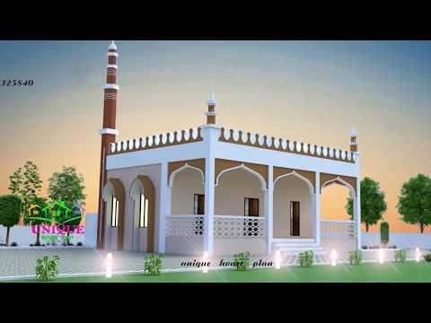 masjid 3d model elevation INDIA