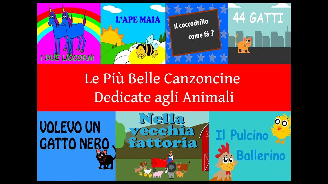 Le più belle canzoni per bambini sugli animali cartoni