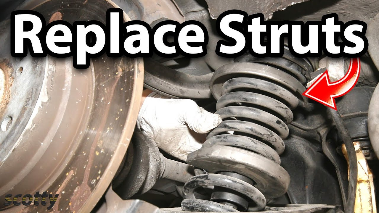 How To Replace Struts On Your Car Youtube 2006 Ford Taurus Rear Suspension Diagram