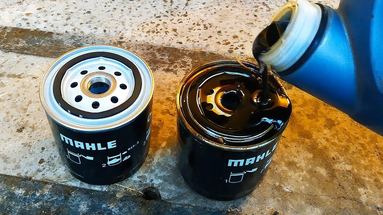 Почему не надо заливать Масло в Масляный фильтр при замене масла двигателя