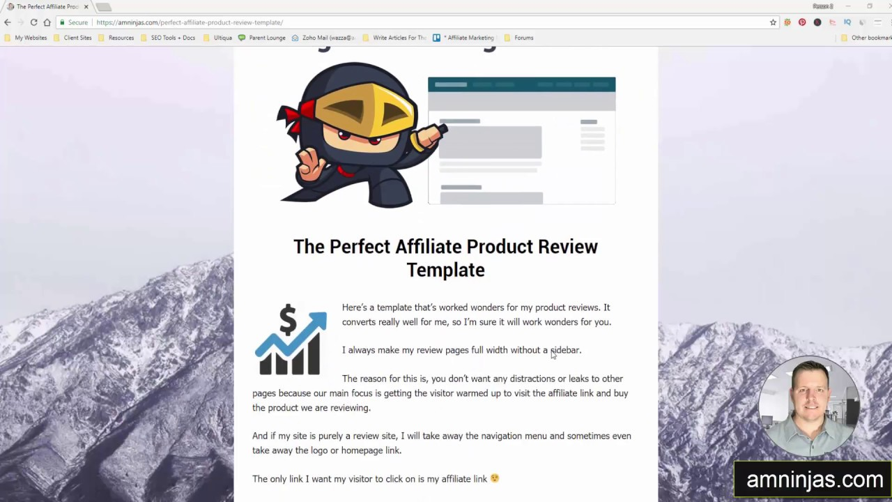Perfect Product Review Template Affiliate Marketing Ninjas