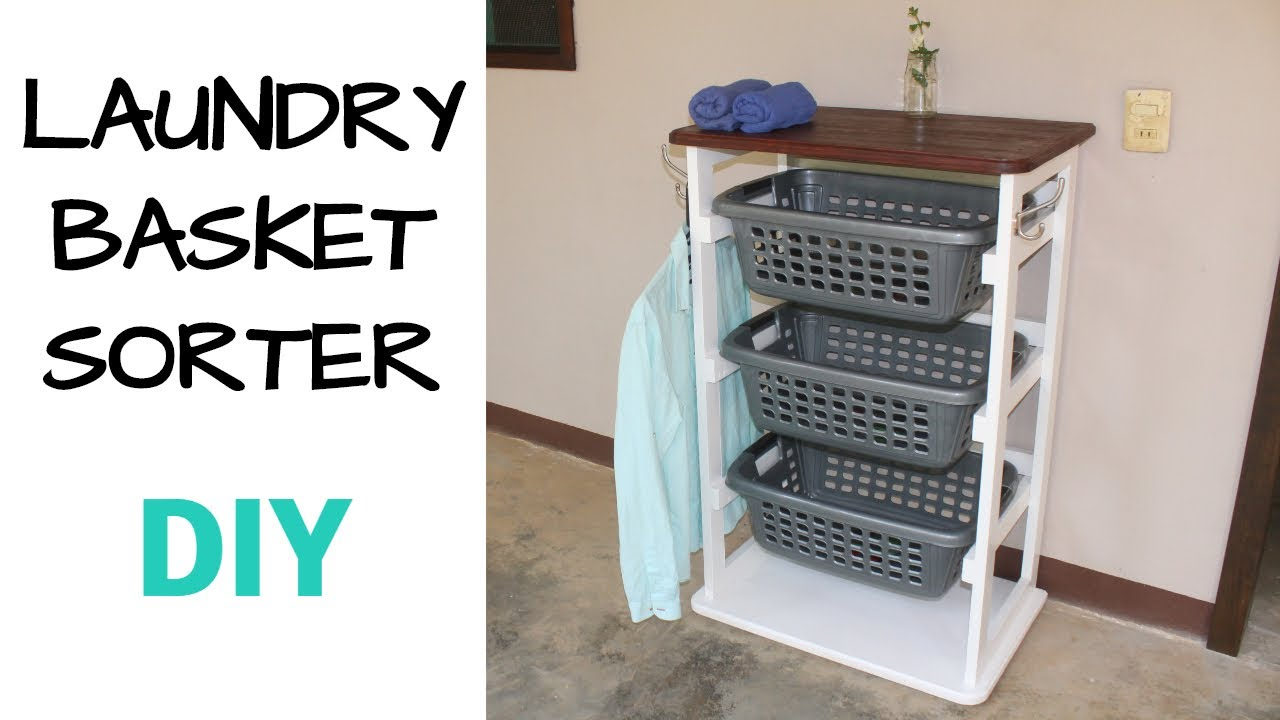 Simple Easy Woodworking Idea // How to Make a Laundry Basket Holder   DIY