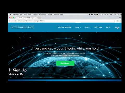 Bitcoin Growth Bot Sign Up And Verification Tutorial