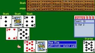 AMIGA Cribbage King CRIBAGE AMIGA OCS 1989 Software Toolworks adf