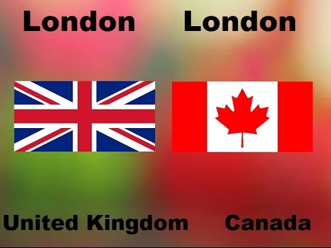 Cities With The Same Name In Different Countries part 1