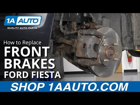 How to Replace Front Brakes 11-16 Ford Fiesta