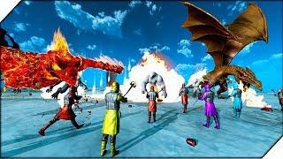 ДРАКОНЫ, ФЕНИКС, ЙЕТИ против МАГОВ - Игра Beast Battle Simulator. Битва динозавров