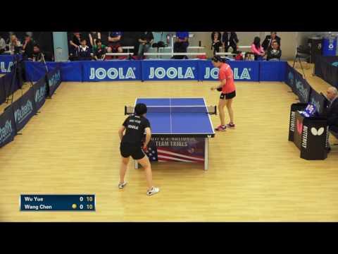 Wu Yue vs Wang Chen, Day 1 Women's Semifinals