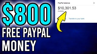 Earn $800 in FREE PayPal Money Fast! Available Worldwide (Make Money Online)