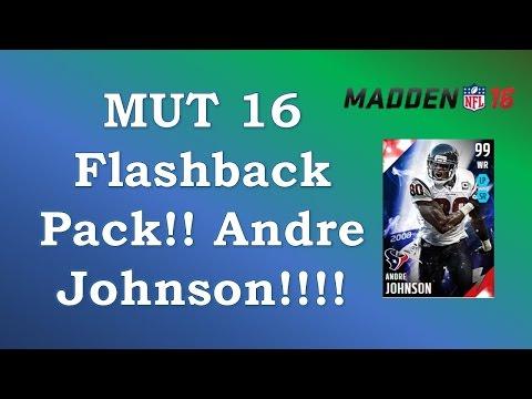 MUT 16 Flashback Pack: 99 Andre Johnson Pull!!!!