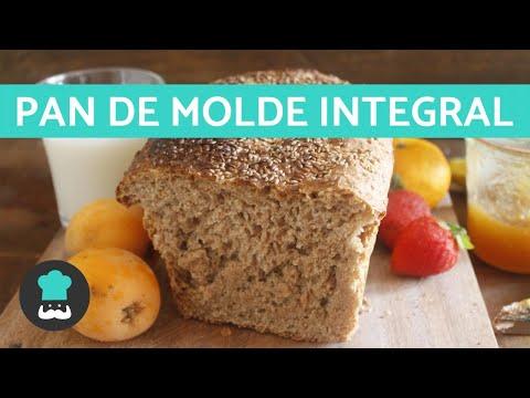 Pan de Molde Integral | Receta de Pan Lactal Integral FÁCIL y SANO