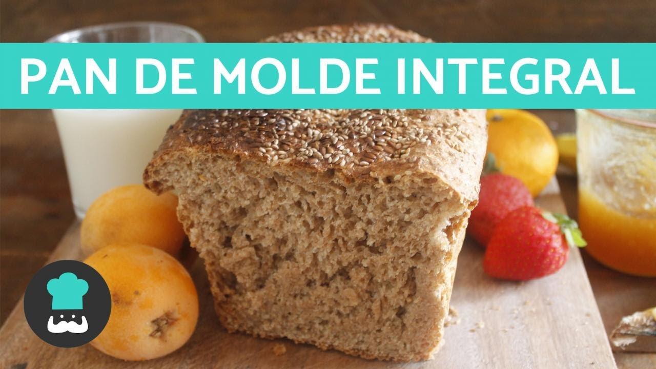 receta de pan lactal integral facil