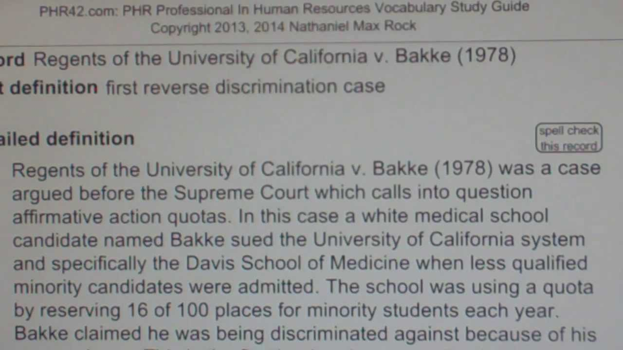 uc regents vs bakke case brief Regents of the university of california v bakke 1978  case brief quiz #2 : brown v bakke  civics regents of the university of california v bakke.