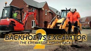 Backhoe vs Excavator 2