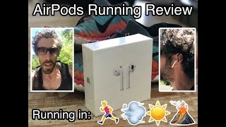 Apple AirPods Running Review by a Marathon Runner - Mountain, Heat, Wind, Sprinting + Slow Motion!