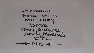 NO Food delivery to military bases doordash ubereats grubhub Postmates caviar pizza hut papa john