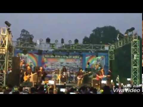 Fossils live concert Aro ekber cholo fire...