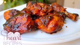 Hickory Smoked Barbecue Chicken Recipe : Made on the grill - I Heart Recipes
