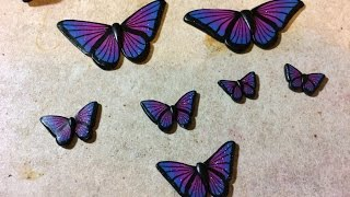 Galaxy Butterfly Polymer Clay Cane Tutorial