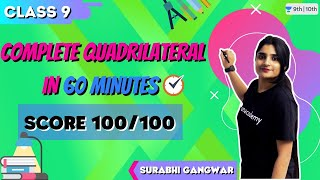 CBSE Class 9: Complete Quadrilateral in 60 Minutes   Score 100/100   Unacademy Class 9 and 10