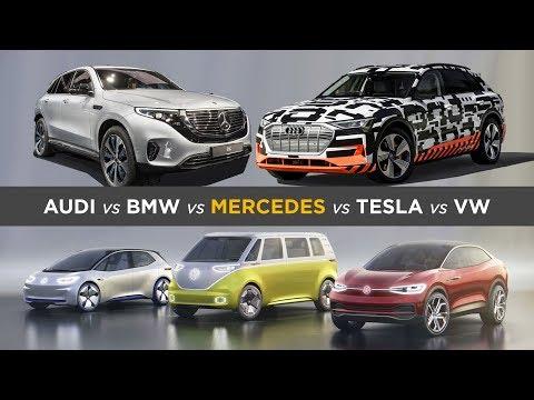 So wollen deutsche Autohersteller Tesla trotzen: Audi, BMW, Daimler & VW´s E-Auto Offensive
