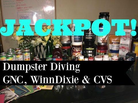 JACKPOT Dumpster Diving GNC, WinnDixie & CVS