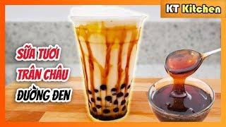 Bí Quyết Làm Sữa Tươi Trân Châu Đường Đen - Brown Sugar Milk Tea Boba Recipe -ENGLISH CAPTION