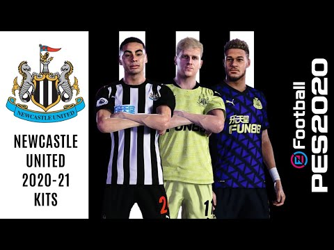 Newcastle United 2020-21 Official Kits   PES 2020