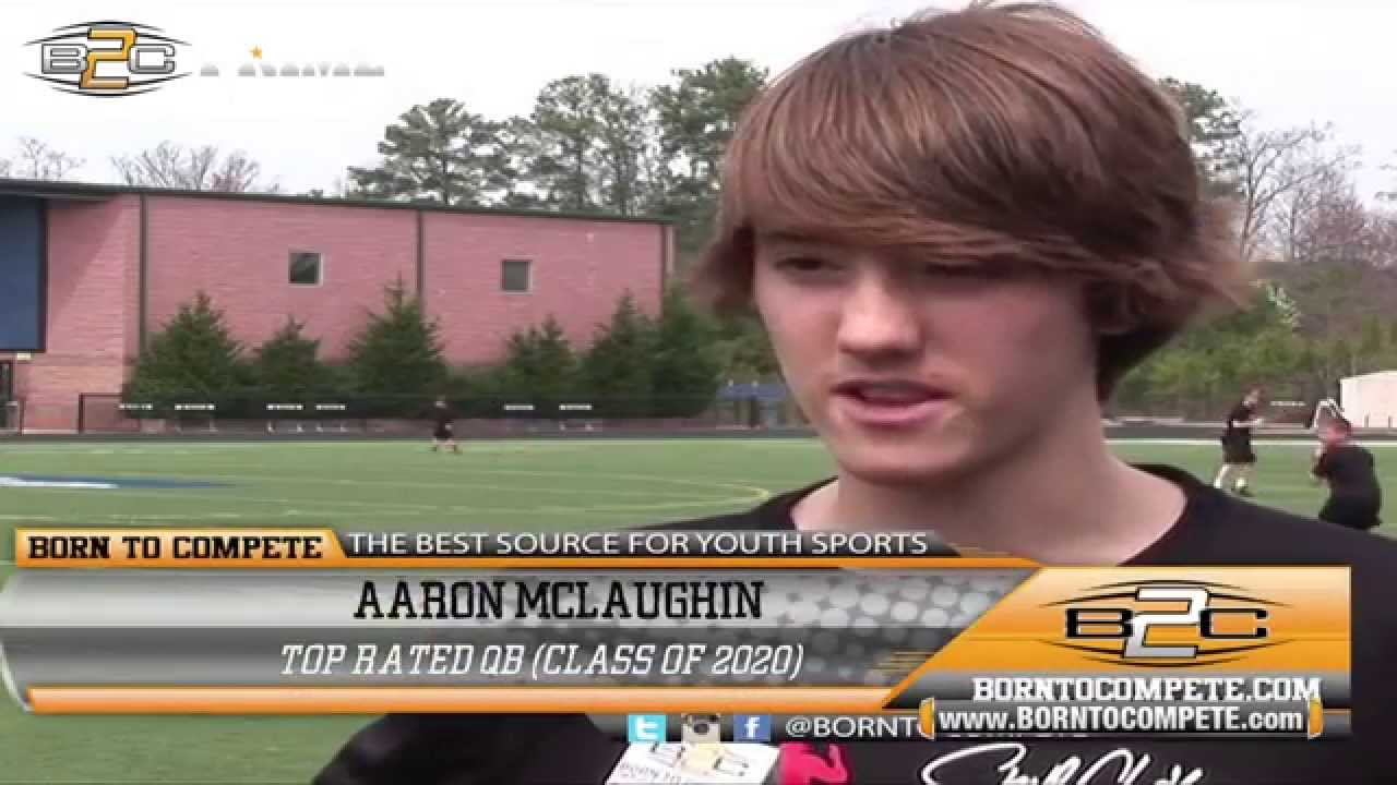 Best Qb Rating 2020 B2C Prime: Aaron Mclaughin   Top Rated QB (Class of 2020)   YouTube