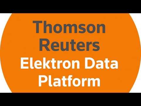 How can the Thomson Reuters Elektron Data Platform help you make faster, smarter market decisions?