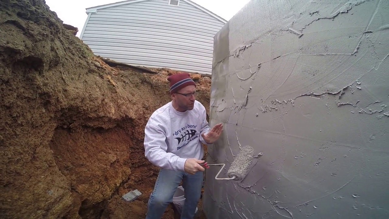 The Best Basement Waterproofing Easy Diy Coating Block Foundation Exterior