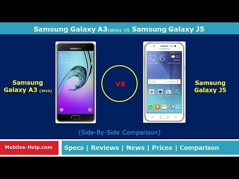 Samsung Galaxy A3 (2016) vs Samsung Galaxy J5 (Side-By-Side Comparison)