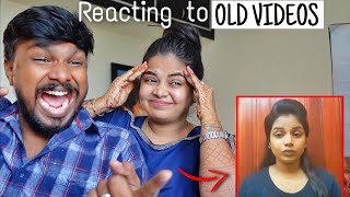Reacting to our 5 Year old Videos 😝 Kutty jaanu 😝